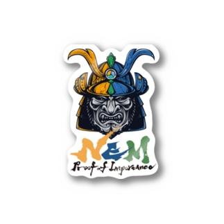 #NEM XEMURAI 3colors ステッカー