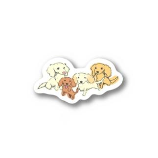 スーパーわんわんズのえりっしゅ様向けステッカー Stickers
