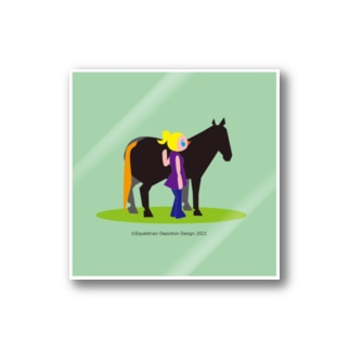 いわてぃすのうまのりめいじん①(馬シリーズ) Stickers