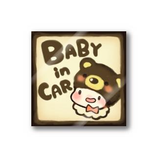BABYinCAR(くま) Stickers