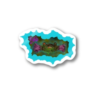 ナットウ奇ナーゼ(水色) Stickers