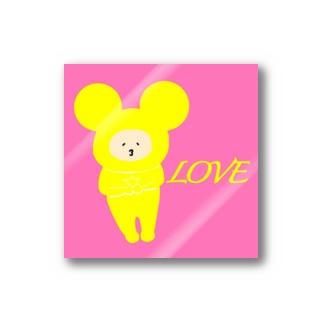 守り神様ステッカー(LOVE) Stickers