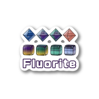 koushiki-RECTANGLE.crystallogram18.1paintwhite-fluorite1 ステッカー