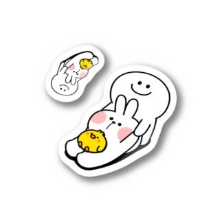 Smile Person Dragging / うさちゃんをひきずる あのひと Stickers
