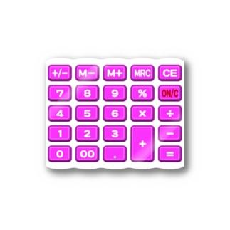 電卓pink ステッカー