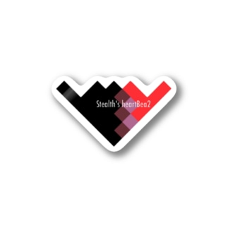 Stealth's heartBea2(ロゴ有) Stickers