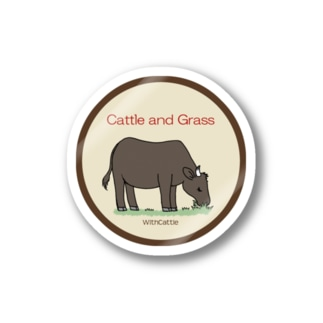 Cattle and Grass Stickers