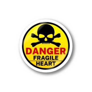 PB.DesignsのFRAGILE HEART -yellow- Stickers
