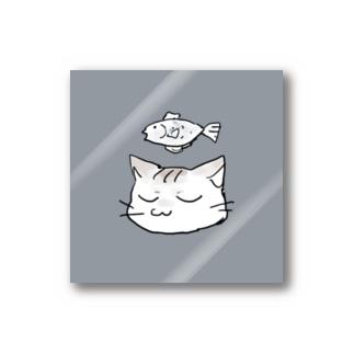 瞑想ねこ Stickers