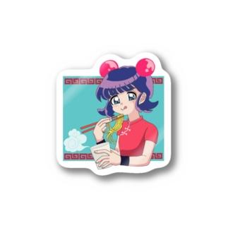 eat カップラーメン ダヨン Stickers