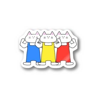 猫ちゃん信号機 Stickers
