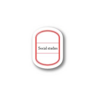 Pop-Hanaの教科シール*社会 Stickers