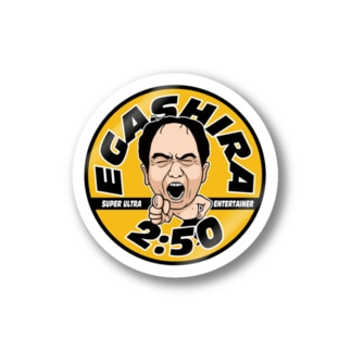 江頭 2:50 ステッカー(American Vintage yellow) Stickers