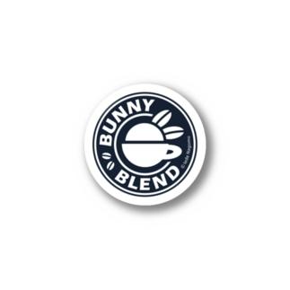 うさぎブレンド[BUNNY BLEND]ロゴマーク単色ver. Stickers