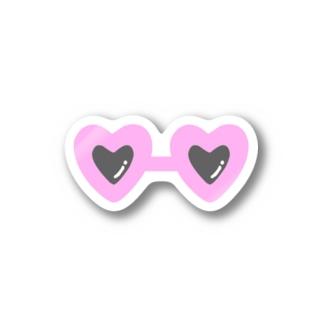 pink×sunglasses Stickers