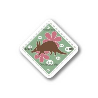 地球の仲間たち記念切手 ツチブタ Stickers