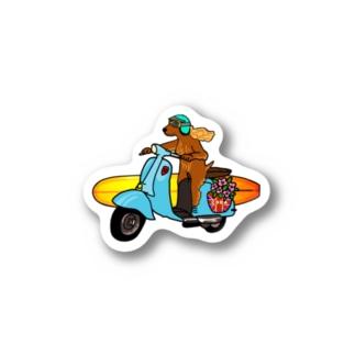 Coda surfdog Stickers
