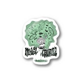 """MAGI COURIER"" green #1 Sticker"