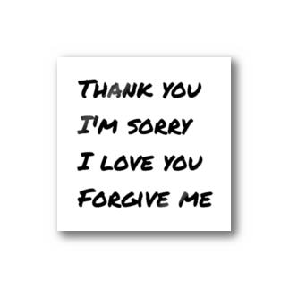 ありがとう*ごめんなさい*あいしてるよ*ゆるしてください Stickers