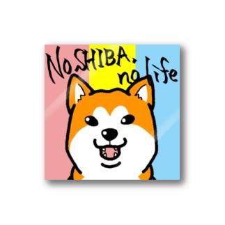 選択式ステッカー(麿無し柴犬<赤>) Stickers