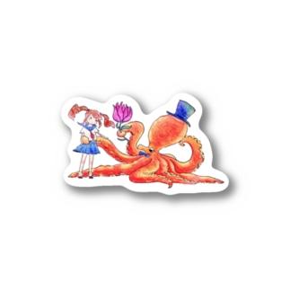 女子高生×タコ Stickers