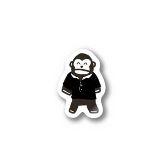 黒シャツステッカー Stickers