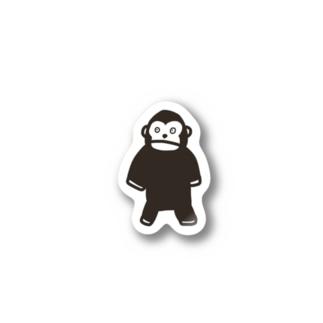 ビックリゴリラくん ステッカー Stickers