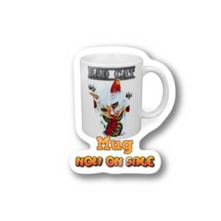BAD CAT Mug Stickers