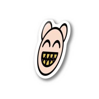 普段より綺麗に描かれた金歯ぐま Stickers