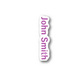 John Smith (Pink) Stickers