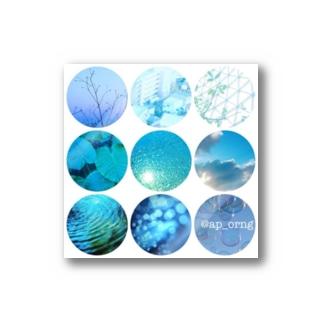 みかんブルー Stickers