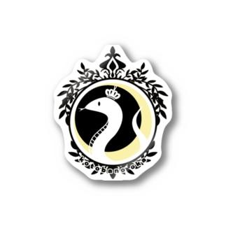 No.15(ステッカー)  ブラック Stickers