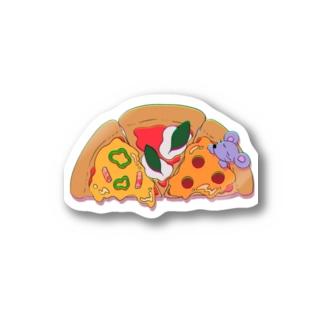 ピザのおふとん Sticker