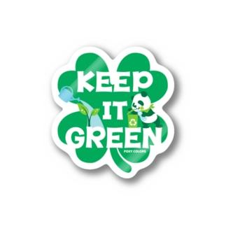 エコ・パンダ ECO PANDA グリーン大作戦 Tシャツ green Stickers