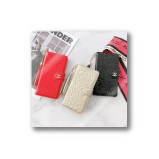 大人 女子 iphone ケース 手帳 型 CHANEL アイフォン12/12pro max ケース カメリア シャネル Stickers