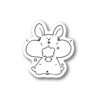 はむもん(ホワイト) Stickers