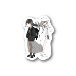 BLACK×WHITE Stickers