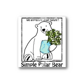 Simple Polar Bear ステッカー