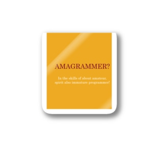 AMAGRAMMER? Stickers
