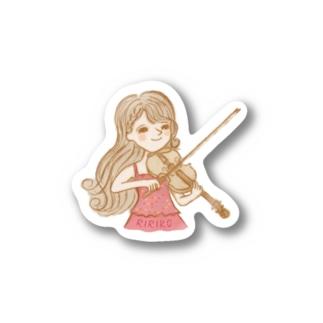 りりこグッズトップス Stickers