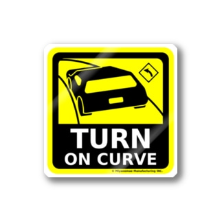 TURN ON CURVE Stickers