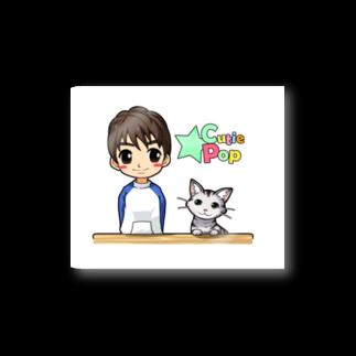 キューティ★ポップのまーちゃんとユキの仲良しグッズ★(無地トレーナー&ロゴ入りver.)ステッカー