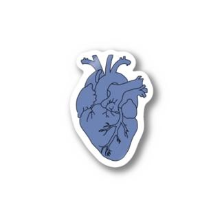 心臓 (青) Stickers