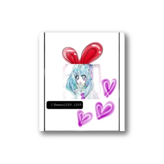 レモンかわいい女子♥️オリジナルショップのうさぎ♥️女子 Stickers