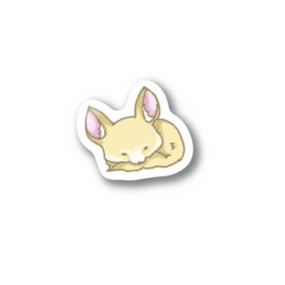 お休みフェネック(大きいの1枚) Stickers