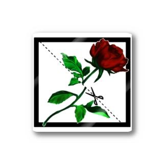 切り華 バラバラになるバラ Stickers