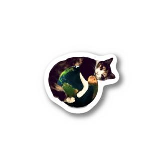 三毛猫の地球 ステッカー