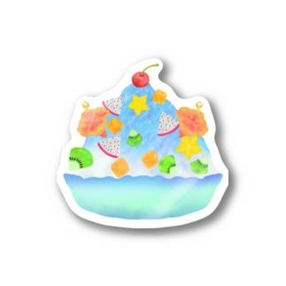 トロピカル・ブルーハワイかき氷 Sticker