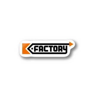 kimchinのK-FACTORY ロゴ Stickers