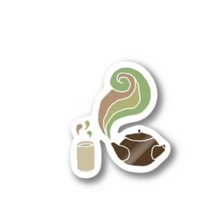 お茶 Stickers